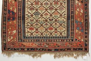 Dagestan Prayer rug. Circa 1880. 3-2 x 5-9 ft.
