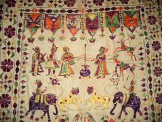Antique textile with animal, gujarat, India. DSC00450.JPG