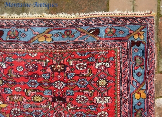 Bidjar-- 4 ft 0 inches x 5 ft 4 inches. Bright and gorgeous piece on wool foundation... very good all original condition. Sold it a while back. Recently bought it back. Wheel  ...