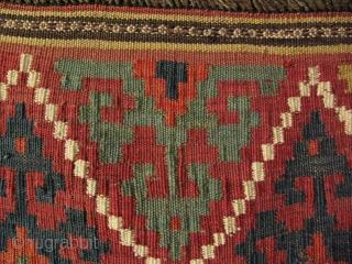 """Uzbek large kilim bagfaces. Size: 25.5"""" x 25.5"""" - 65 cm x 65 and 24"""" x 27"""" - 62 cm x 69 cm."""