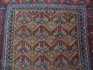 """Small Baluch rug. Camel hair ground. Size: 39"""" x 59"""" - 100 cm x 150 cm."""
