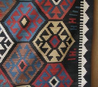 """Caucasian large size kilim. Size: 7' x 11' 2"""" - 216 cm x 342 cm."""