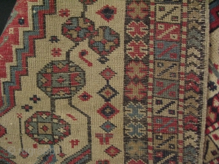 "West Anatolian Manisa Kula rug. All wool natural colors. No repairs, good condition. Circa 1900 Size: 37"" x 52"" -94 cm x 132 cm."