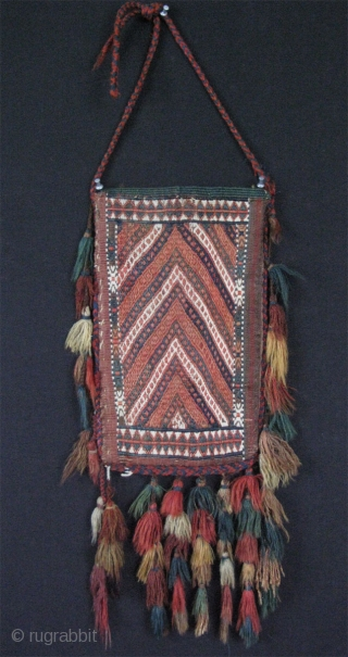 Turkmen Yomud kilim igsalyk. In great condition. Camel hair used on the backside. 