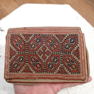 Antique Greek silk embroidered small bag.