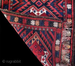 "Kyrgyz napramash. Size: 19"" x 30"" (48cm x 77cm)."