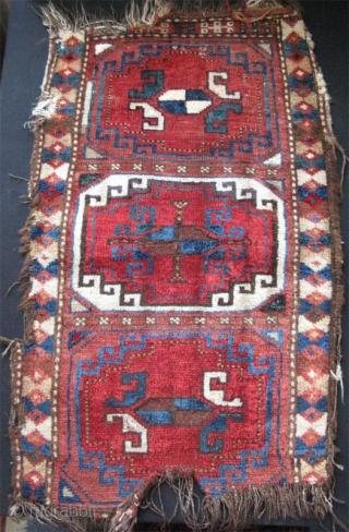 "Uzbek napramash. Size: 19"" x 30"" - 48cm x 78cm."