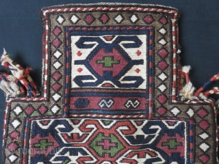 "Shasavan Salt bag. As seen, some wears on side tassels. Fairly in good condition. Circa 1900-1920s. Size: 14"" by 18"""