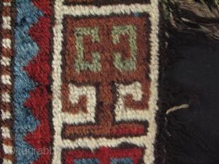 "Caucasian rug fragment. Great silky wool. Size 16"" x 31.5"" - 40 cm x 80 cm."