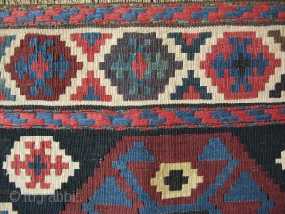 """Shahsevan mafrash side panels. Great colors and wool. Size of each: 21"""" x 21"""" - 54cm x 54cm."""