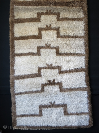 "Anatolian Karapinar  Turkmen tribal rug, 1900-1920. soft shiny angora mix fine wool which feels like lamb's wool, great innocent drawing with full pile.  Size: 79"" X 48"" - 200 cm  ..."