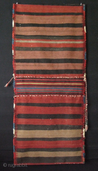 """Kurdish complete camel bag. North West of Iran. There is fuchsine dye in it, as you can see on the last image. Size: 23.5"""" x 54"""" - 60 cm x 137 cm."""