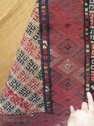 "Turkmen Sahra Yomud Goklan kilim. Size: 33"" x 48"" - 84 cm x 122 cm."
