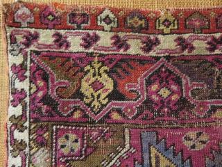 "Anatolian Mudjur yastik. Circa late 19th c. Condition as it is found. Size: 23.5"" x 32"" - 60 cm x 81 cm."