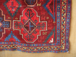 "Central Asian Upper Amuderya area (So called Karakalpak) main rug. Size: 73"" x 100"" -187 cm x 256 cm."