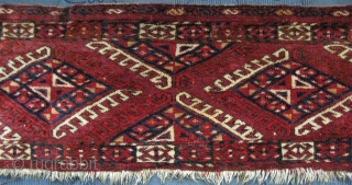 "Turkmen Yomud torba. Size: 13"" X 44"" - 33 cm x 112 cm."