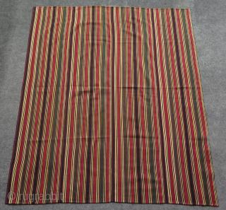"""Shahsevan silk jajim. Size: 49.5"""" x 57.5"""" - 126 cm x 146 cm."""