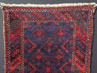 """Baluch balisth. All great wool and natural colors & condition with soft handle. Size: 19"""" x 29"""" - 48 cm x 75 cm."""
