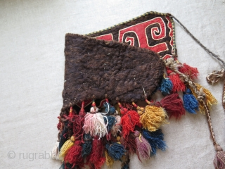 "Kirghiz trapping. Size: Body 8"" x 21"" - 20 cm x 53 cm and with tassels 16"" - 41 cm high."