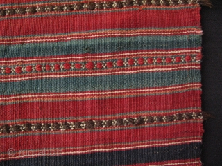 "North of Iran - Mazaendaran small kilim. All natural colors. Size; 27"" x 45""- 69 cm x 114 cm."