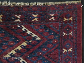 "Turkmen Ersari ikat design large chuval. Circa late 19th century. Saturated natural colors. Some low pile areas. Size: 42"" x 63"" - 108 cm x 160 cm."