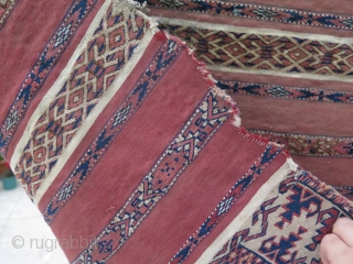 """Turkmen Ak Chuval. Size: 30"""" x 3"""" - 76 cm x 134 cm."""