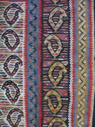 "Persian small Senneh kilim. Size:  39"" x 50"" - 99 cm x 127 cm."