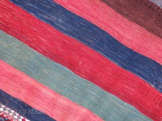 "East anatolia, Kurdish Sinanli - Malatya Chuval - Clothing bag. Natural colors, good condition. Circa 1900 - size: 65"" X 40""  - 143 cm X 102 cm"