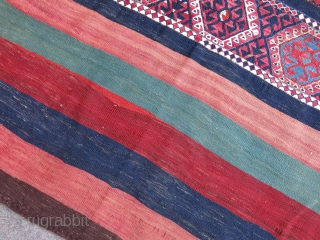 "East anatolia, Kurdish Sinanli - Malatya Chuval - Clothing bag. Natural colors, good condition. Circa 1900 - size: 65"" X 40""  - 143 cm X 102 cm"