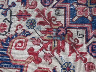 """Iran - Heriz sampler. Great condition and nayural colors. Size: 37"""" X 24"""" 97 cm X 60 cm"""