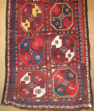 "Karakalpak main rug. Very small area repairs with old wool. Size: 51"" x 110"" -(130cm x 280cm)."