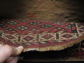 "Turkmen small Yomud Torba. Size 9"" x 14.5"" - 23 cm x 37 cm."