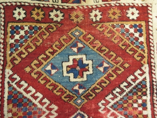 "West Anatolian small rug. Used for praying. Circa late 19th. century. Size: 93 cm x 122 cm - 36.5"" x 48"""