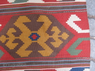 Shahsevan Kilim.İt is in good condition but some black colors need repair.250x180cm