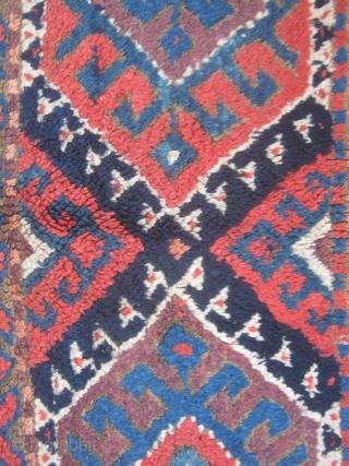 Kurdish rug fragment.