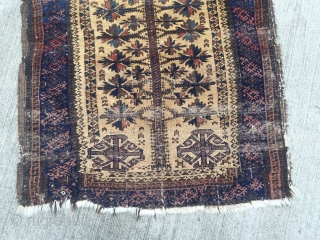 Anitque dated Baluch prayer rug, damaged but very nice, size: 110x80cm / 3'6''ft x2'6''ft