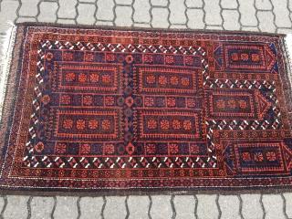 Antique Baluch prayer rug, size : ca 150cm x 87cm / 5'ft x 2'9''ft