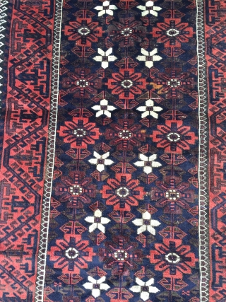 Very nice antique Mina Khani Baluch rug, size: 192x103cm / 6'3''ft x 3'4''ft