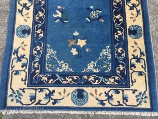 Antique Chinese Peking rug, size: 175x95cm / 5'8''ft x 3'1''ft