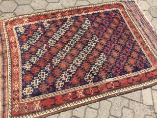 Antique Baluch rug with unusual design and large kilims, size: 190x120cm / 6'3''ft x 4ft