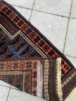 Beautiul antique Timuri Baluch prayer rug with large kilims and glossy, shiny wool. Size: ca. 123x80cm / 4'1''ft by 2'6''ft