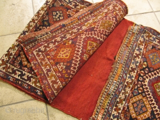 Antique complete doublebag or so called Khorjin woven by Qahqai tribes of Southwest Persia. Nice collector´s item.