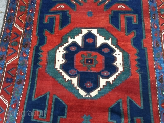 Antique Caucasian rug, beautiful drawing. Size: ca. 245x170cm / 8'1''ft x 5'6''ft