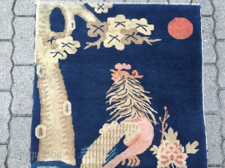 Antique Chinese Pao Tao rug displaying a phoenix, size: 145x75cm / 4'8''ft x 2'5''ft www.najib.de