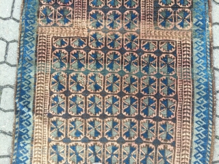 Antique Baluch prayer rug . Origin : North-West Afghanistan . Size : ca. 130cm x 90cm ( 4'2''ft x 2'9''ft ) Nice collector´s piece.