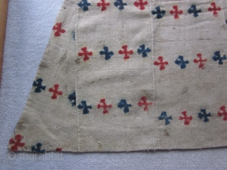 Tibetan, horse blanket, wool cloth with overall tie-dyed design,? 1900