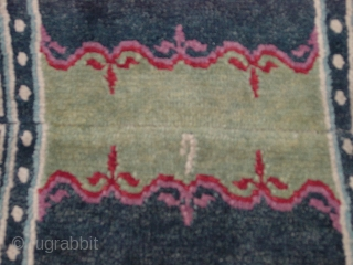Tibetan oval saddle bottom piece,big knots, rare and early--before 1900, all dyes good. NIck Wright