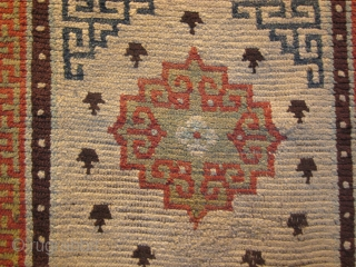 Tibetan khaden (sitting and sleeping rug)with good age, before 1900. Some repair in field