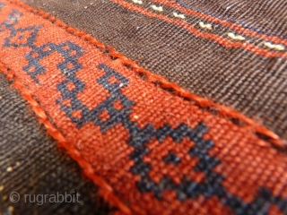 Extremely fine Beluch with velvety wool and a floppy handle. Lots of different guls, little animals and scattered motifs.Full pile, wool on wool. 180x97cms including the long kilim ends (154x97cms the pile  ...