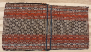 Qashqai Darreh Shuri saddle bag. Extremelly finelly woven, a couple of stains (see photos), needs a wash. Some repairs. 107x57 cms